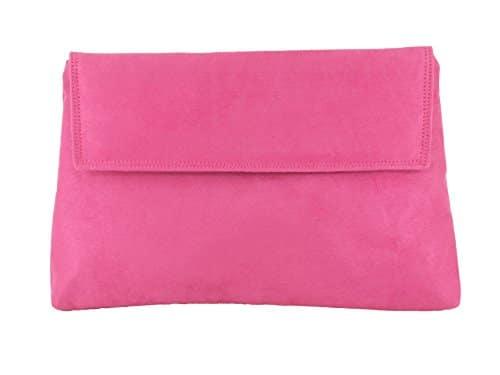 18ea3b6163 LONI Charming Faux Suede Clutch Shoulder Bag – IAS Leathergoods Ltd