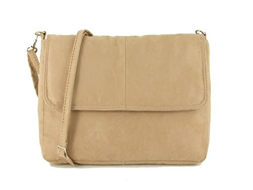 LONI Clutch / Shoulder Bag Cross-Body Handbag in Faux Suede